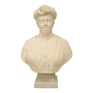 Victorian White Marble Lady Bust For Sale