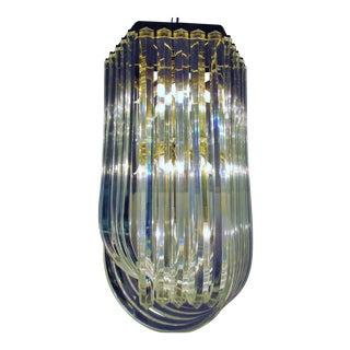 Dorthy Thorpe Style Lucite & Brass 10 light Chandelier