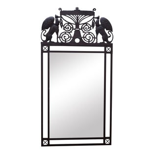 Medieval Gothic Custom Iron Frame Wall Mirror