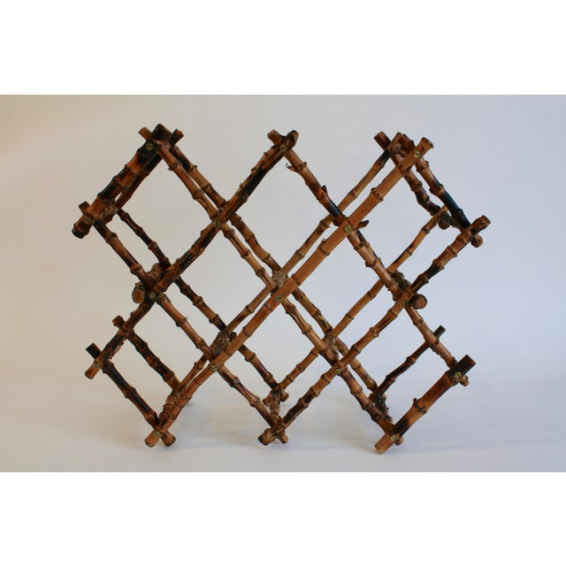 Vintage French Bamboo Wine Rack - Image 6 of 6