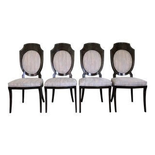 Mid Century Hollywood Regency Mastercraft Shield Back Dining Chairs- Set of 4 For Sale