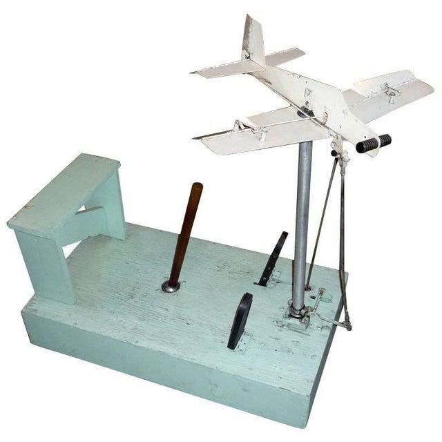 1930's Mechanical Flight Simulator For Sale - Image 10 of 10