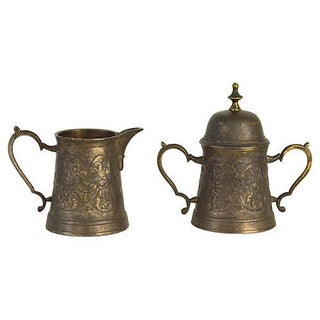 Vintage Ornate Sugar & Creamer Set