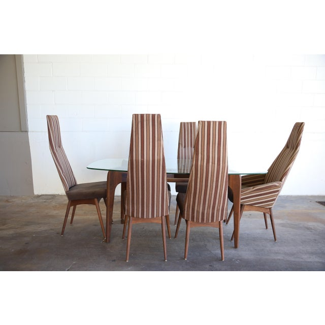 Danish Modern Adrian Pearsall Dining Set Table & Chairs - 7 Pieces For Sale - Image 3 of 13