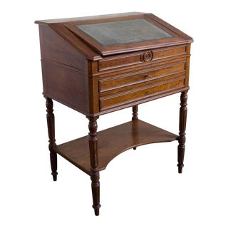 19th Century Louis XIV Mahogany Architect's Cabinet/Secretary Desk For Sale