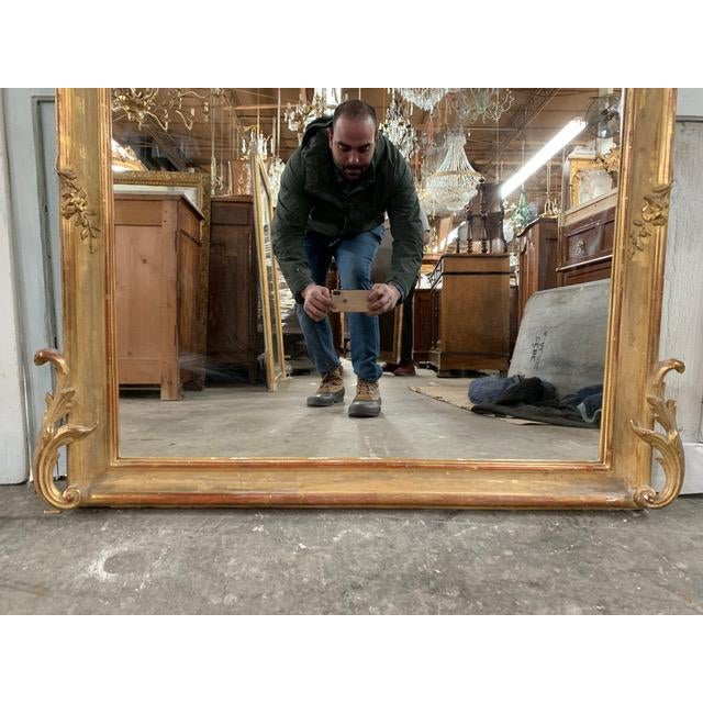 French Provincial 18th Century Original Grand Louis Philippe Style Mirror For Sale - Image 3 of 10