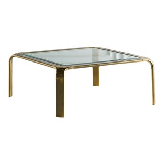 Mastercraft Brass Coffee Table For Sale