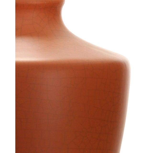 Orange Crackle Gabriel Table Lamp For Sale - Image 4 of 8