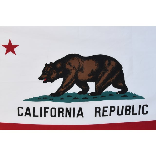 Brass Large Vintage California Republic State Bear Flag For Sale - Image 7 of 10