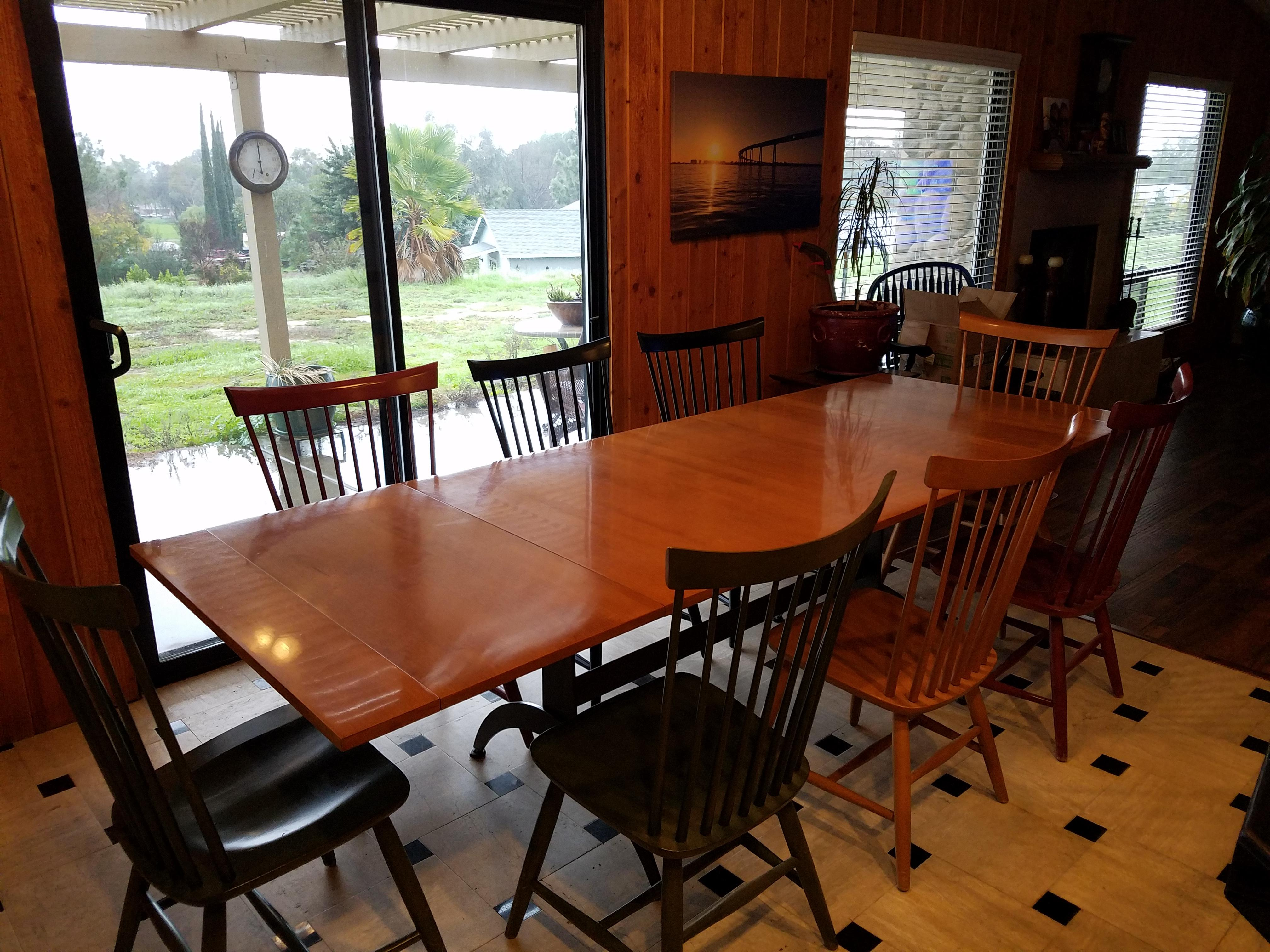 Ethan Allen Country Colors Dining Set With Table And 8 Fan Back Chairs    Image 6