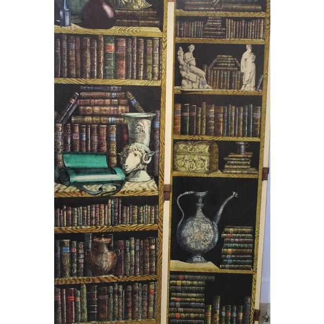 """Folding Screen """"Bosco Con Balaustra-Libri"""" by Piero Fornasetti For Sale - Image 6 of 11"""