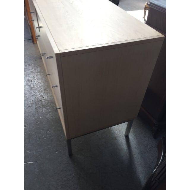 Metal Room and Board Dresser Delano 6 Drawer For Sale - Image 7 of 9