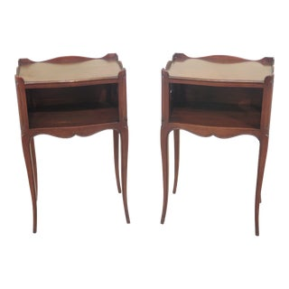 1950s French John Widdicomb Cherry Nightstands - a Pair For Sale