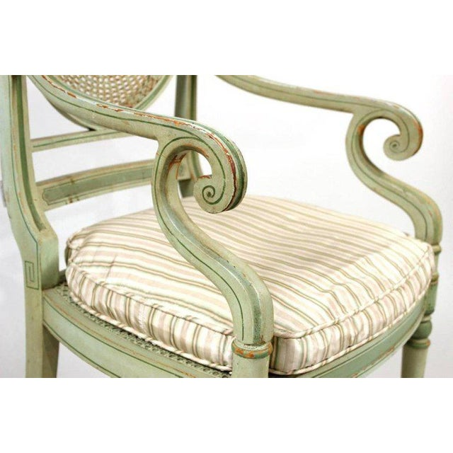 19th Century Regency Style Neoclassical Painted Armchairs - Set of 4 For Sale In Boston - Image 6 of 10