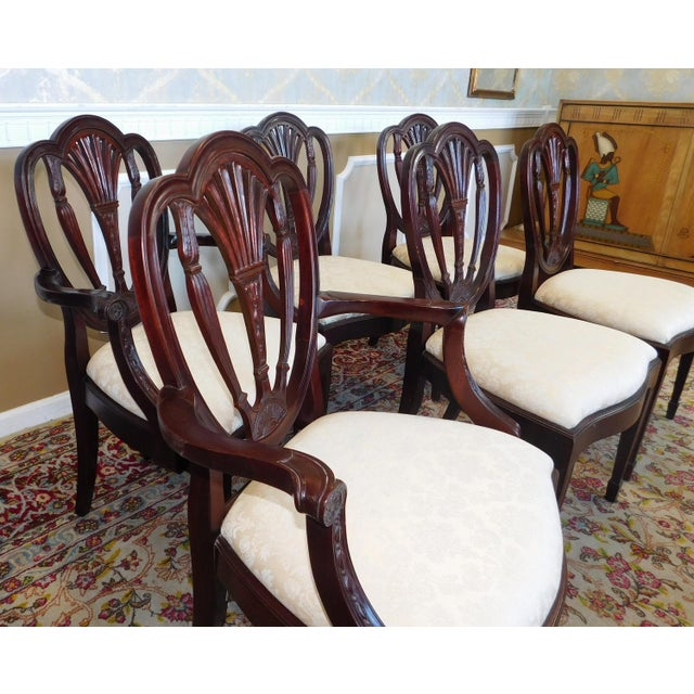 Shield Back Dining Room Chairs: Hickory White Shield Back Mahogany Sheraton Style Dining