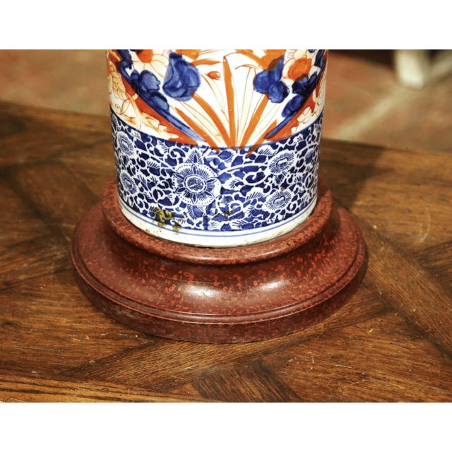 Early 20th Century Japanese Hand Painted Imari Porcelain Umbrella Stand For Sale - Image 4 of 7