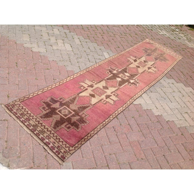 This gorgeous hand knotted area rug was made in about 1940's by Anatolian tribes. Collectible rug is made with all hand...