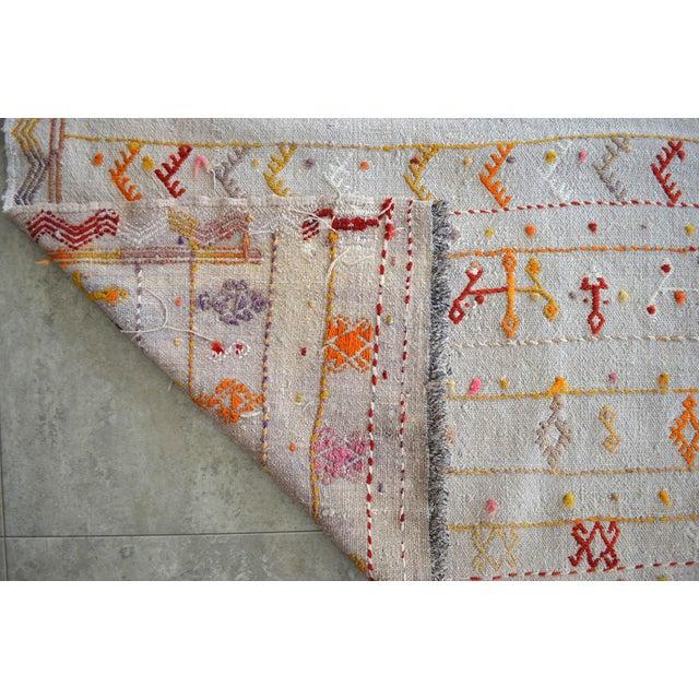 Antique Handmade Kilim Runner Rug Masterwork Cotton Jajim Hallway Decor - 2′9″ × 11′9″ For Sale - Image 12 of 12