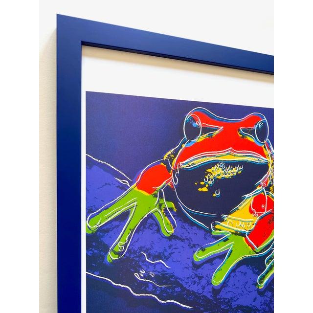 """1980s Andy Warhol Estate Vintage 1989 Endangered Species Framed Lithograph Print """" Pine Barrens Tree Frog """" 1983 For Sale - Image 5 of 13"""