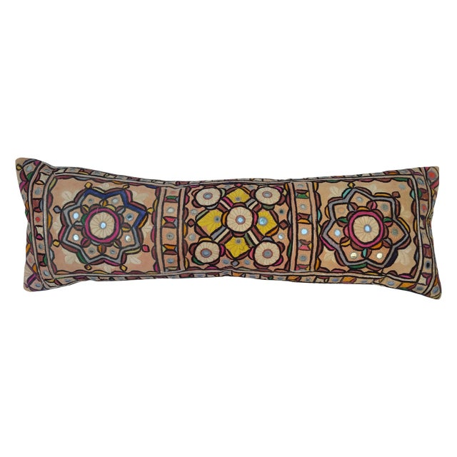 Hand Embroidered Rajasthani Lumbar Pillow - Image 1 of 5