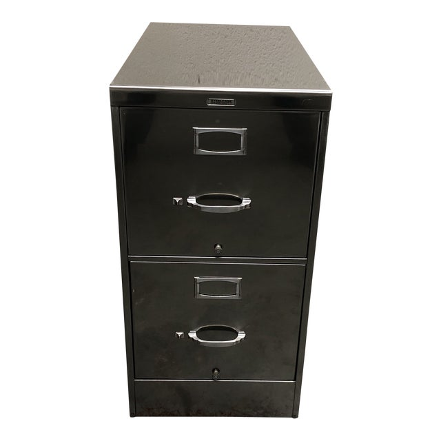 Vintage Steelcase Two Drawer File Cabinet For Sale