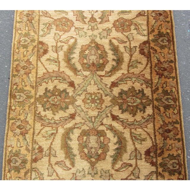"Oriental Hand Woven Wool Runner - 2'6"" x 7'11"" - Image 6 of 11"