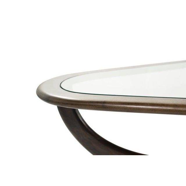 Large Scale Sculptural Walnut Coffee Table, Italy, 1950s For Sale - Image 9 of 13