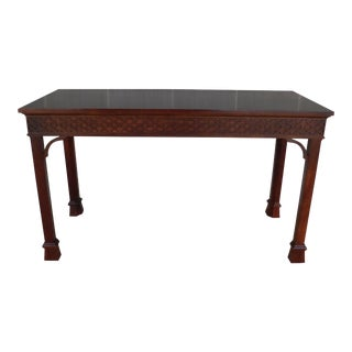 Stickley Williamsburg Reserve Collection Chinese Chippendale Style Console Table For Sale