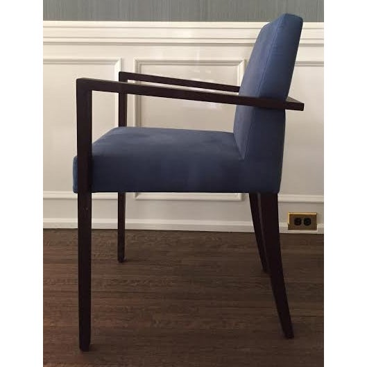 Ligne Roset Blue Dining Chairs - Set of 8 - Image 3 of 7