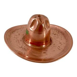Vintage Mid-Century Copper Cowboy Hat Model For Sale