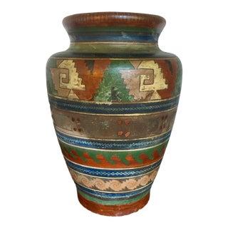 1930s Vintage Ladislao Ortega Tonala Mexican Pottery Vase For Sale