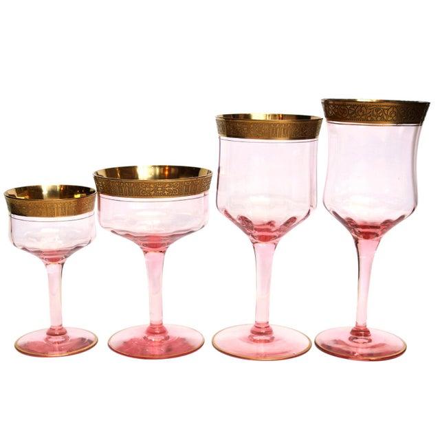 Hollywood Regency 1930's, Tiffin-Franciscan Glassware Set For Sale - Image 3 of 7