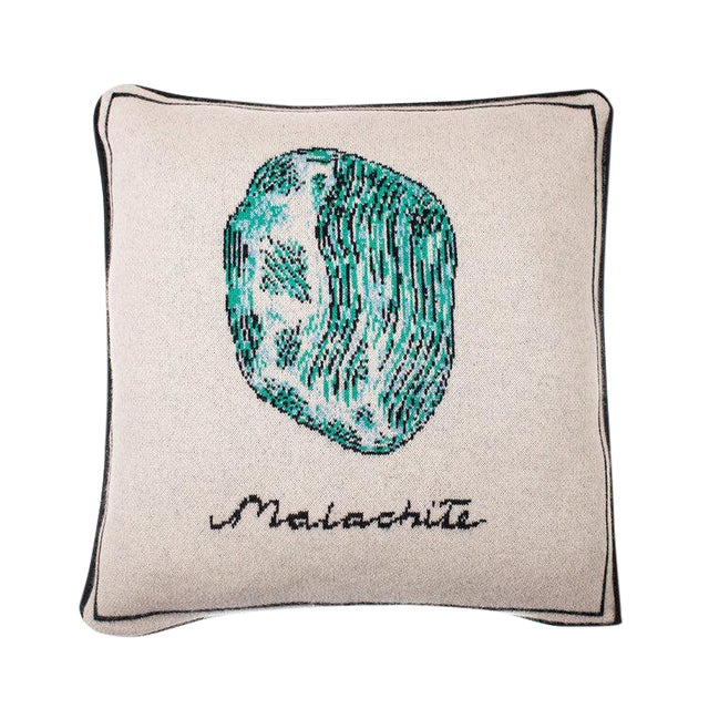 Fee Greening - Malachite Cashmere Pillow For Sale