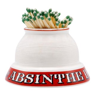 Absinthe Dicharry French Ceramic Match Striker For Sale