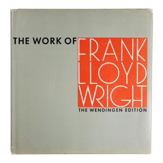 The Work of Frank Lloyd Wright: The Wendingen Edition For Sale