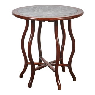 Late 19th Century Chinese Round Rosewood Folding Table For Sale