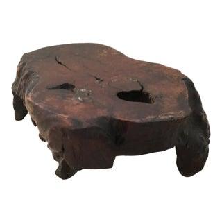 Asian Burl Wood Free Form Presentation Base For Sale
