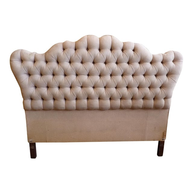 Vintage Tufted Full Size Hearboard - Image 1 of 8