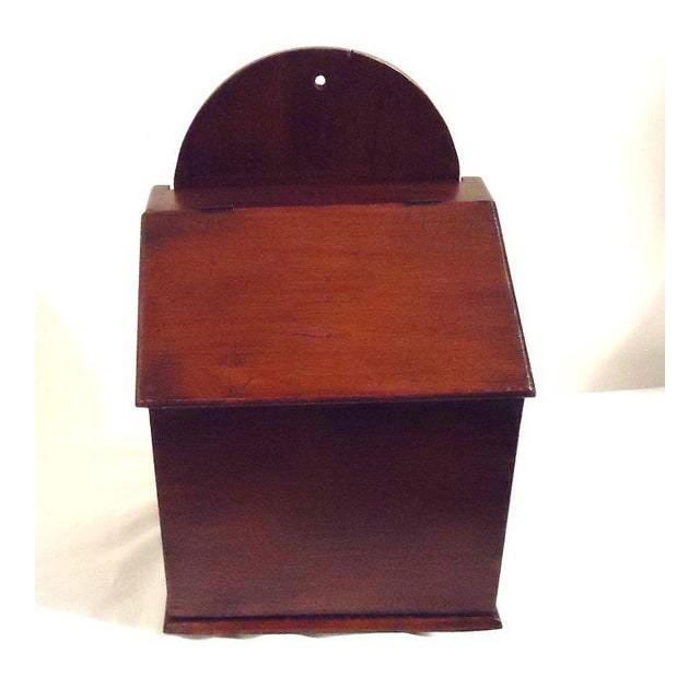 Fantastic Oversized 19th Century Walnut Wall Box For Sale - Image 4 of 8
