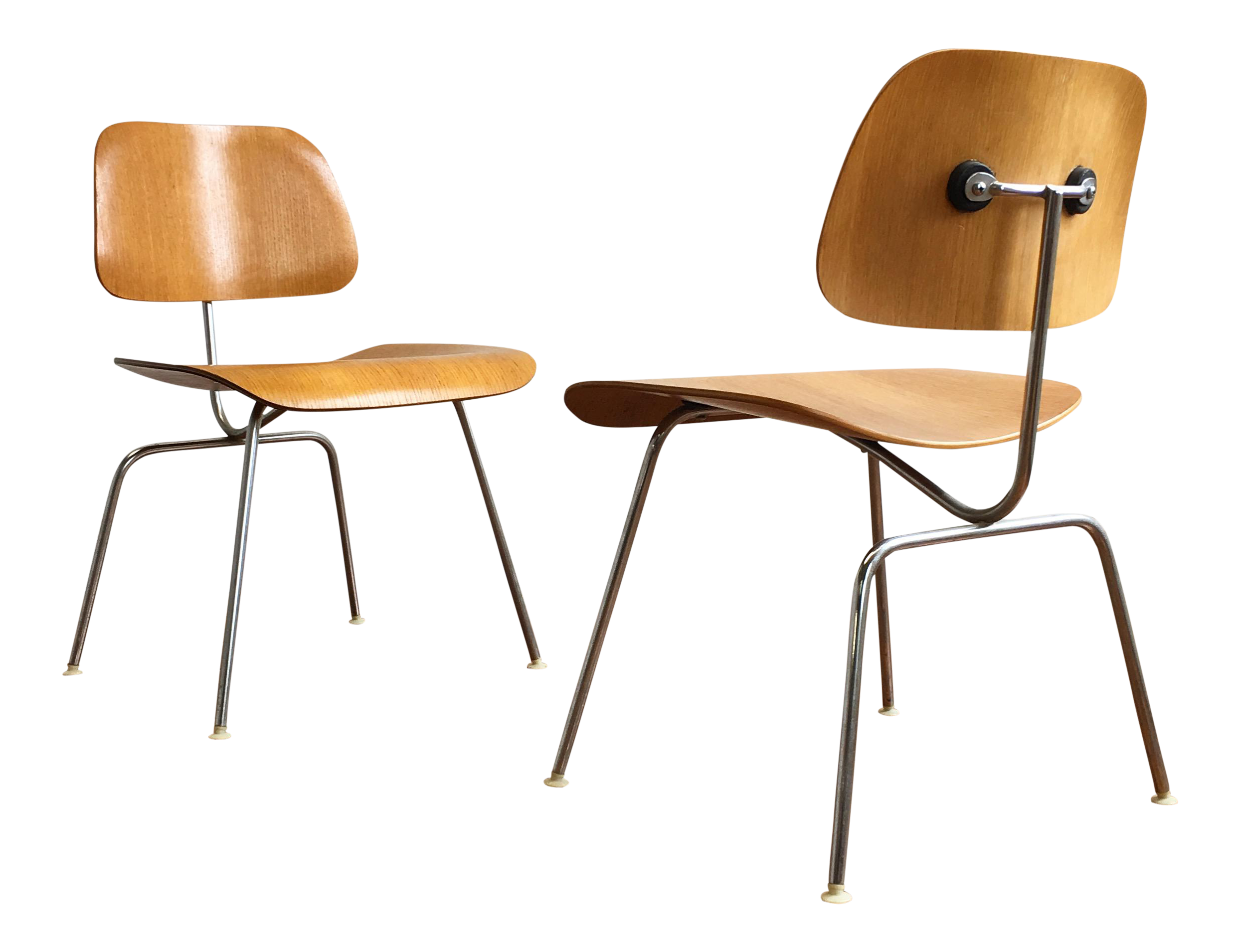 Vintage Herman Miller Eames Molded Plywood Chairs   A Pair