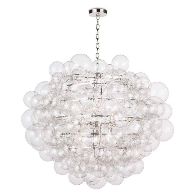 Glass Nimbus Glass Chandelier in Clear For Sale - Image 7 of 7
