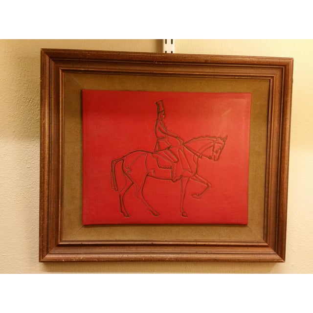 Embossed Leather Horse & Rider Wall Hanging - Image 2 of 6