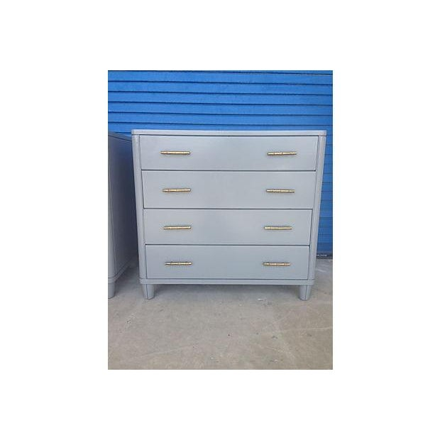 Gray Mid-Century Bachelor Chests - A Pair - Image 7 of 7