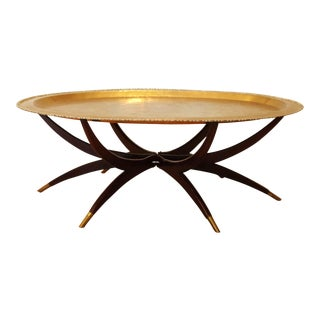 Vintage Brass Tray Coffee Table