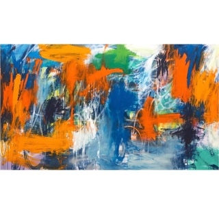 Large Abstract Expressionist Oil Painting For Sale