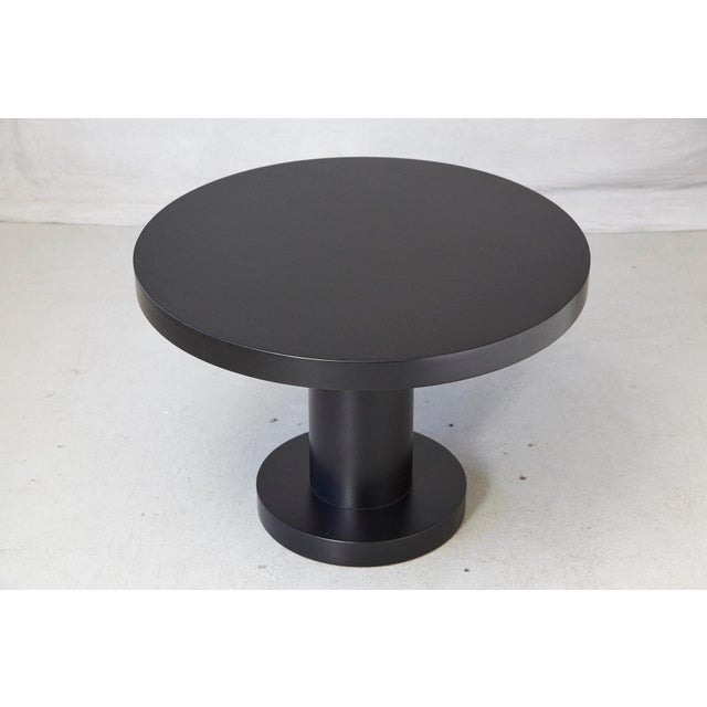 Wood Modern Puristic Oak Center Table in New Black Finish, 1960s For Sale - Image 7 of 12