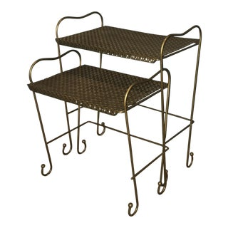 Vintage Metal Nesting Tables - A Pair