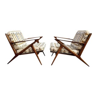 1950s Vintage Poul Jensen for Selig Z Lounge Chairs - a Pair For Sale