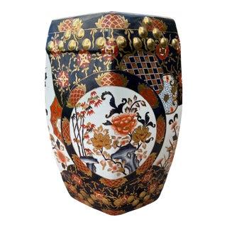 Antique Imari Porcelain Garden Stool For Sale