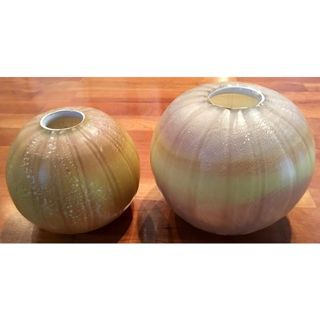 Round Maize Vases - A Pair - Image 2 of 4